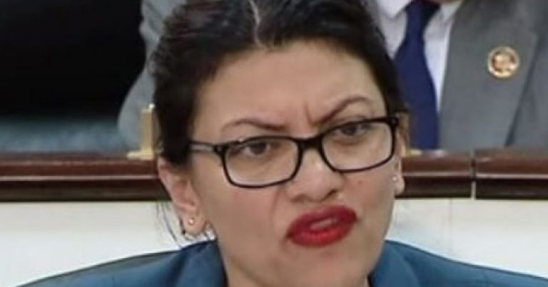 New Video: Rashida Tlaib Caught on Camera Being a Complete Racist