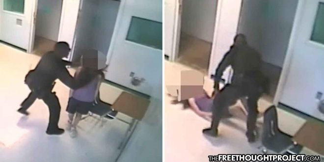 Photo of WATCH: Florida School Cop Arrested for Grabbing Girl by the Neck, Smashing Her Into the Ground