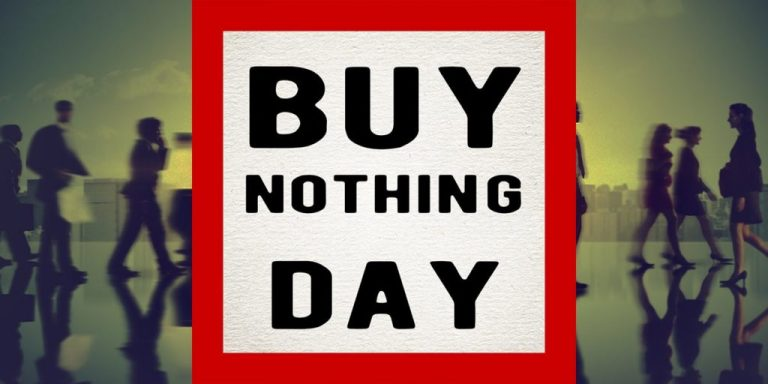 """Many People Are Now Celebrating """"Buy Nothing Day"""" Instead Of """"Black Friday"""""""
