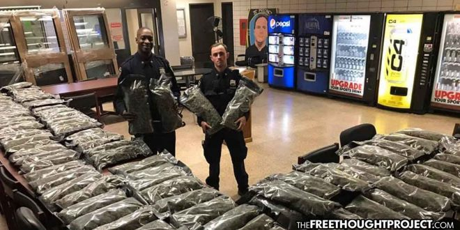 Photo of Internet Owns NYPD After They Bragged About Stealing 106 lbs of LEGAL Hemp for Cancer Patients