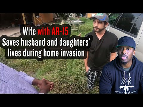 Photo of 8 Months Pregnant: Wife with AR-15 Saves Husband & Daughter From Armed Home Invaders
