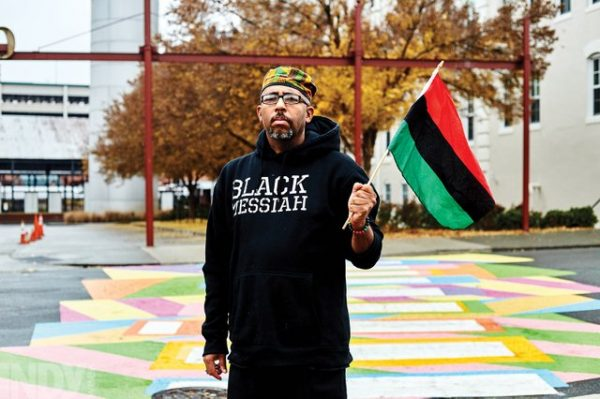 Photo of Black Activist in Durham, NC Continues Push for City to Paint African/Black Pride Colors on Crosswalk to Reduce Black on Black Violence