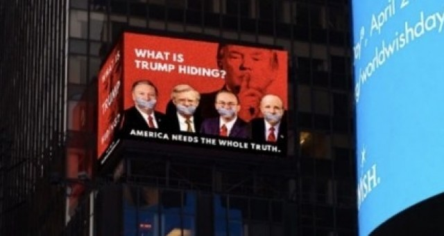 Photo of We Just Discovered Who Put Up Massive Anti Trump Ad In Times Square