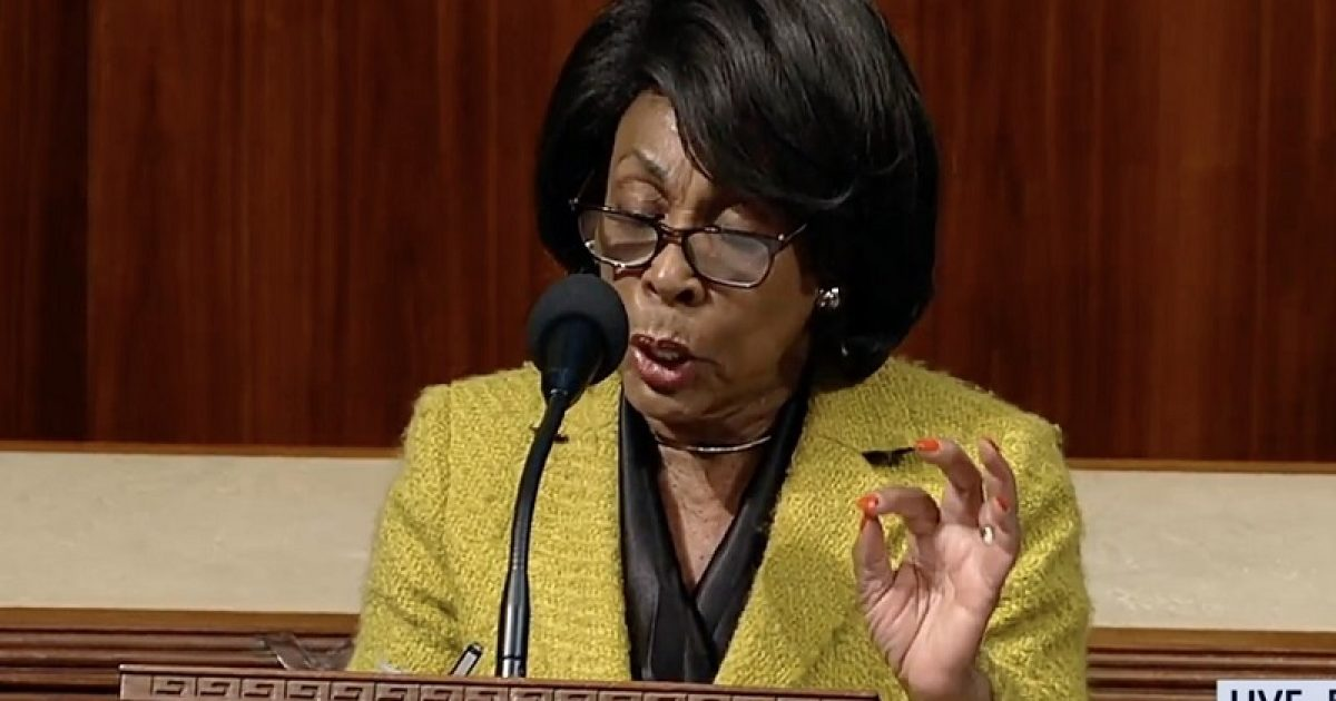 Photo of Lock her up! WATCH Maxine Waters flash white power hand sign during sham impeachment speech
