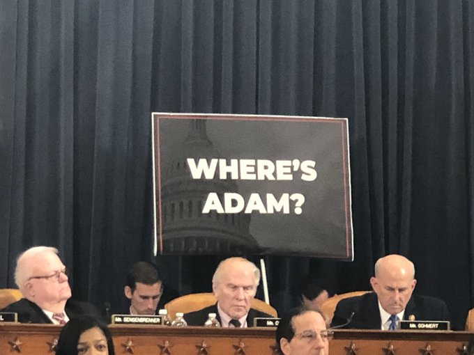 Did You See The Schiff Signs at Impeachment Hearings This Week?