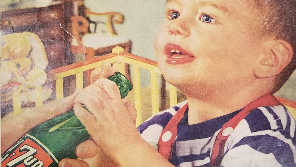 Photo of Same soda companies now pushing transgenderism mutilations of children once promoted sugary soft drinks for infants