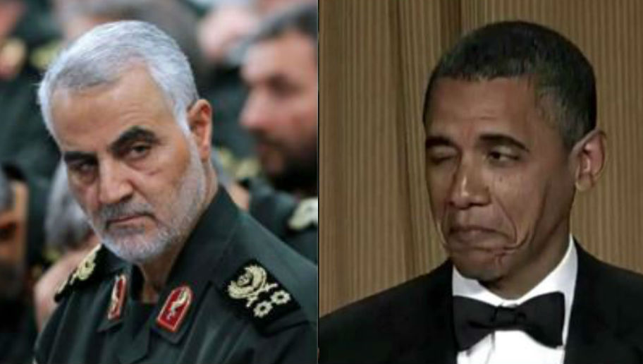 Photo of Obama Sent Troops to be Slaughtered by Madman Soleimani