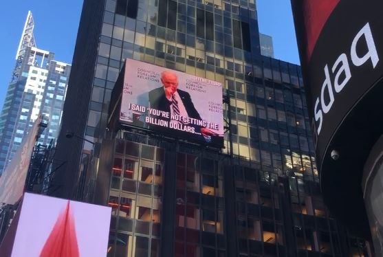 Ukraine Scandal: Biden's Own Words Now Being Used Against Him in NYC's Times Square