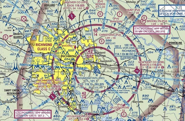 "Photo of FAA Declares Airspace Over Richmond, VA ""National Defense Airspace"" Until After Lobby Day"