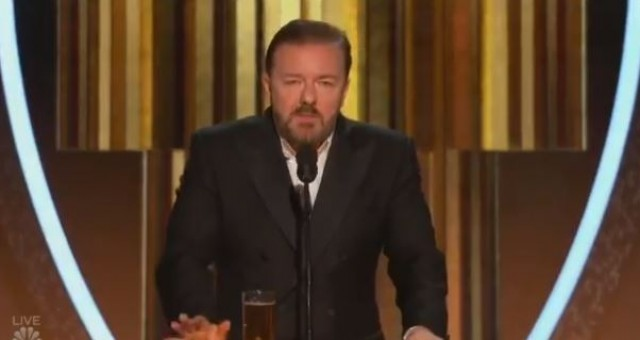 Photo of Host Ricky Gervais Torches Hollywood Stars at Golden Globes: Calls Them Hypocrites, Friends of Epstein