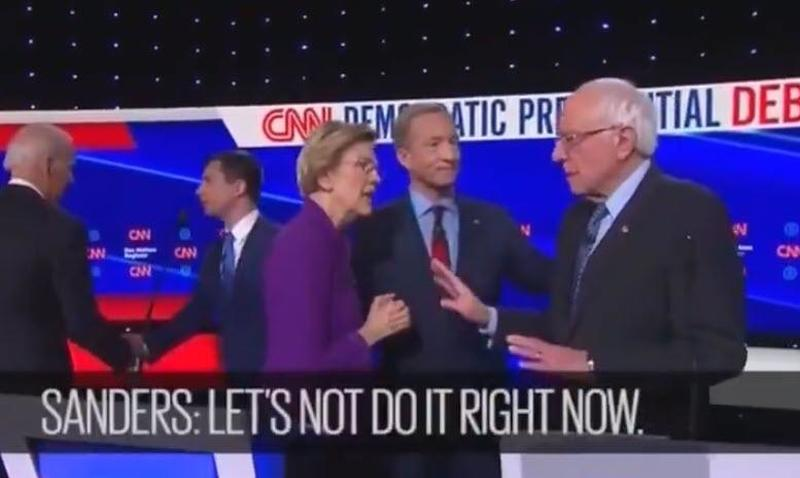 """Photo of """"I Think You Just Called Me A Liar"""": Ex-Native-American Liz Warren Snaps At Bernie On Hot Mic"""
