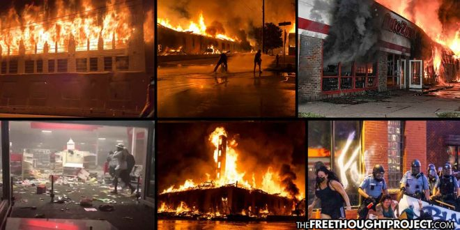 Nat'l Guard Called In As Minneapolis Literally Burns From Riots Over George Floyd's Murder
