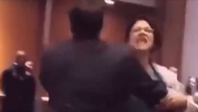 Photo of Video: Rashida Tlaib Screaming As She's Forcefully Removed From Trump Event