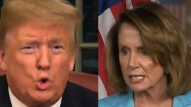 "Photo of Trump Refuses To Break Bread w/ Pelosi: ""She Has Torn This Country Apart"""