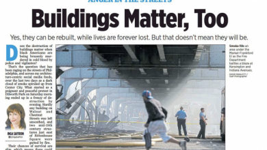 "Photo of Top Editor of Philadelphia Inquirer Resigns for ""Buildings Matter, Too"" Headline After Attempt to Defend Private Property (Commercial/Residential) from Black Lives Matter Rioters"