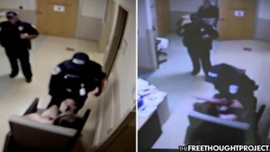 Photo of WATCH: 'Good Cop' Does Nothing as Fellow Cop Beats Helpless Hospital Patient