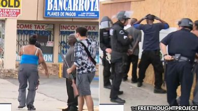 Photo of On LIVE TV Cops Detain Armed Store Owners Protecting Store As Looters Run Off