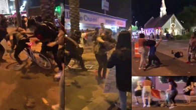 Photo of Las Vegas: Mob Attacks Man In The Street, Stomps On His Face, Waves Mexican Flag