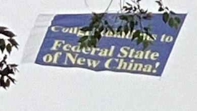 "Photo of Planes Fly Banners Over NYC: ""Federal State Of New China"""