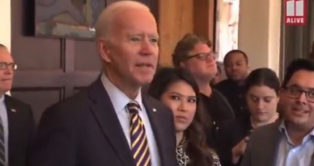 Watch as Joe Biden Freaks On Reporter Who Asked About His Son's New Child