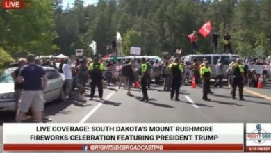 Photo of Hundreds Of Protesters Block Entrance To Mt. Rushmore Ahead Of Trump Rally- National Guard Deployed