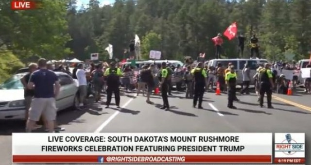 Hundreds Of Protesters Block Entrance To Mt. Rushmore Ahead Of Trump Rally- National Guard Deployed