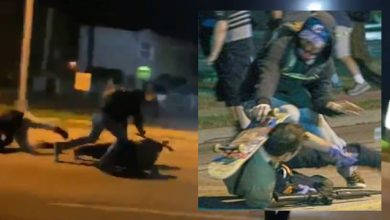 Photo of FIGHT for your LIFE: Stunning video shows moment armed security man had to shoot multiple rioters from the ground or be beaten to death by Black Lives Matter thugs