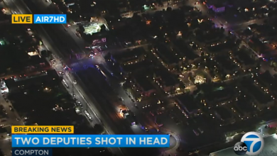 Photo of Two Los Angeles County sheriff's deputies SHOT IN THE HEAD 'fighting for their lives' after ambush