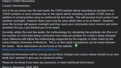 "Photo of Breaking News: OK Health Department ""Plans"" Spike Of COVID Numbers In Private Email"