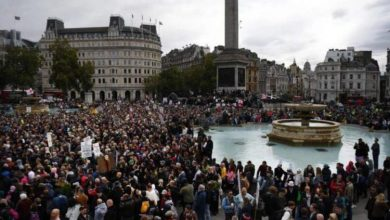 """Photo of """"We Do Not Consent"""" — Thousands Rally In London To Oppose Another COVID-19 Lockdown (Video)"""