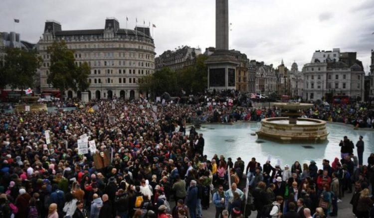 """We Do Not Consent"" — Thousands Rally In London To Oppose Another COVID-19 Lockdown (Video)"