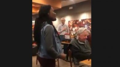 Photo of Woman Belts Out National Anthem In Cafe – Watch The Reaction