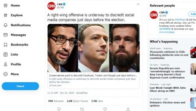 Photo of Beyond Parody: CNN Warns Conservatives Are Seeking to 'Discredit' Facebook & Big Tech Ahead Of Election