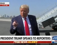 'This Is What They Call A Mic Drop': Trump Flattens Reporter Who Asked Why He Called Biden A Criminal