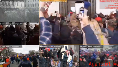 "Photo of Trump supporters tried to STOP Antifa infiltrators from breaking Capitol windows during false flag ""siege"""
