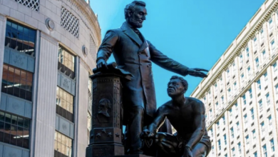 Photo of Kneel Before Black Lives Matter… Forever: City of Boston Removes Statue of Abraham Lincoln Liberating Slaves, Because White Men Can't be Celebrated in America Anymore
