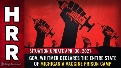 Photo of Gov. Whitmer declares the entire state of Michigan to be a VACCINE PRISON CAMP … obey or stay locked down forever