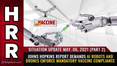 Photo of Meet your automated, totalitarian medical police state future: Johns Hopkins demands AI robots and drones enforce covid vaccine war against humanity