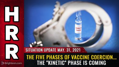 Photo of The five phases of vaccine compliance: We are currently in phase 3, and the last phase involves door-to-door arrests of those who refuse spike protein injections