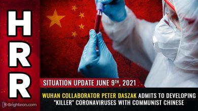 "Photo of Smoking gun: Wuhan collaborator Peter Daszak admits to developing ""killer"" coronaviruses with communist Chinese"