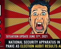 National security apparatus in total panic over election audit results, rising backlash against tyranny and corruption
