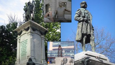 Photo of Newark, NJ Takes Down Statue of Christopher Columbus, Erects Statue of George Floyd