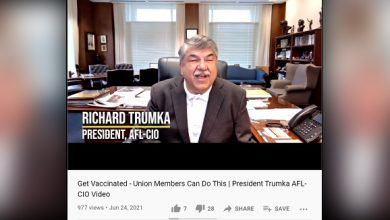 Photo of AFL-CIO President Richard Trumka 'Dies Unexpectedly' of Heart Attack 1 Week After Backing Vax Mandates