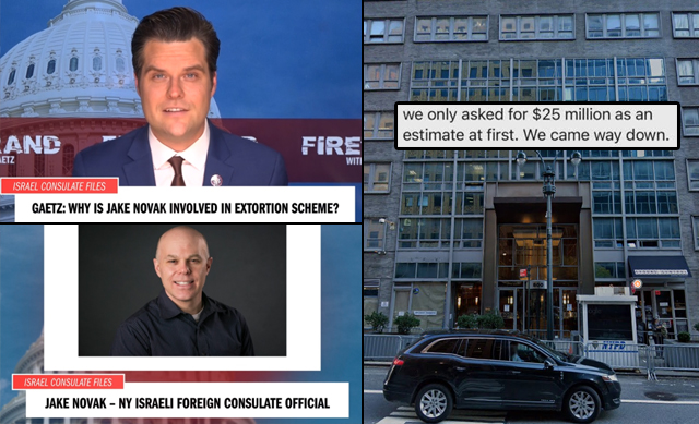 Rep. Matt Gaetz: Why Is An Israeli Consulate Official Involved In An Effort to Extort My Family Of $25M?