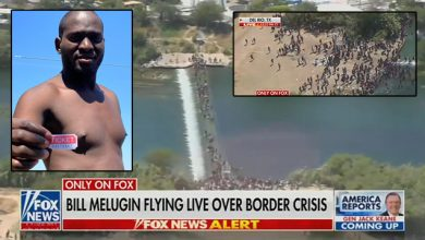 Photo of Local Police Fly Fox News On Chopper to Film Migrant Invasion After FAA Bans Drones Over Del Rio Bridge