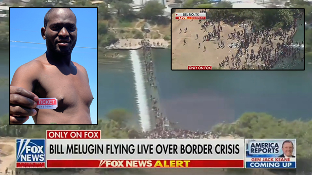 Local Police Fly Fox News On Chopper to Film Migrant Invasion After FAA Bans Drones Over Del Rio Bridge