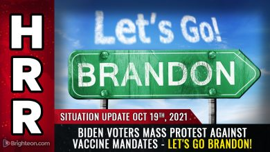 """Photo of MASS PROTESTS erupt across America; even Biden voters now rejecting tyrannical vaccine mandates … """"Let's go Brandon"""" protest rap goes viral"""