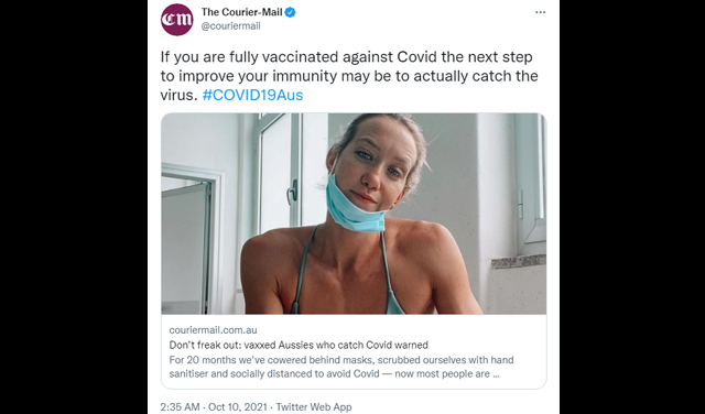 Goalpost Shift: Media Says Double-Vaxxed Catching Covid Is A Good Thing